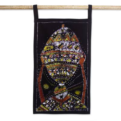 Hand Crafted Cotton Batik Fish-Themed Wall Hanging