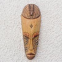 Ivoirian wood mask, 'Kweke'