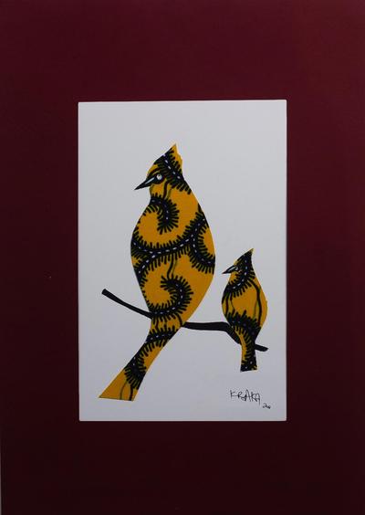 Acrylic Bird Painting on Cardstock