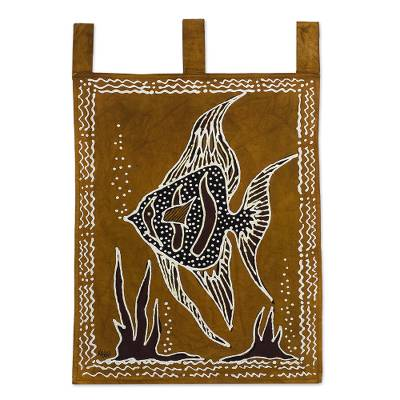 Fish-Themed Cotton Wall Hanging