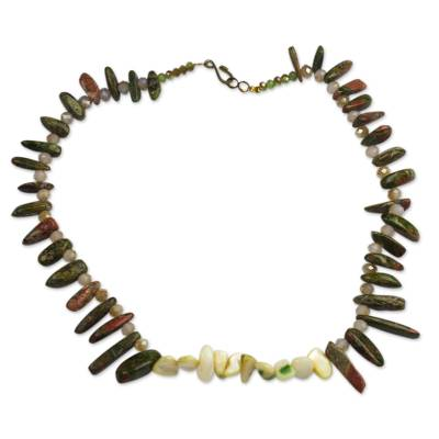 Hand Crafted Agate Beaded Necklace