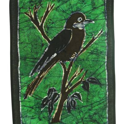Batik Cotton Bird-Themed Wall Hanging