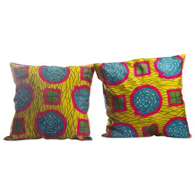 Artisan Made Cotton Cushion Covers (Pair)