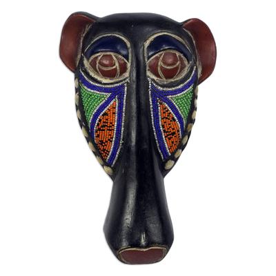 Eco-Friendly Sese Wood Beaded Dog Mask