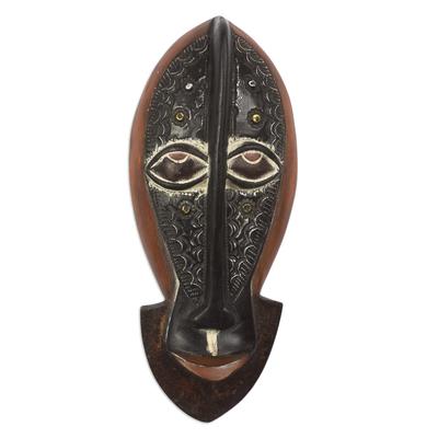 Aluminum-Plated Sese Wood Monkey Mask