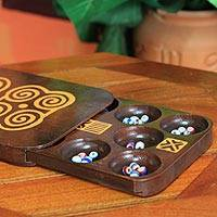 Oware table game, 'Odwaen Mbenn' - Wooden Oware Table Game