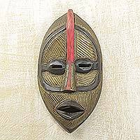 Akan wood mask, 'Ghostly Image' - Akan wood mask
