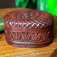Wood jewelry box, 'My Girl Friday'
