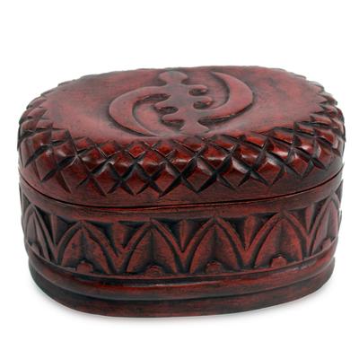 Wood jewelry box, 'My Girl Friday' - Hand Crafted Wood Jewelry Box