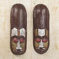 Ivoirian wood masks,