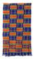 Kente cloth scarf, 'Tribute to Mother' - Kente Scarf from Africa thumbail