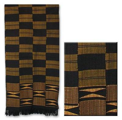'Takpekpe Le Anloga,' scarf - Kente Cotton Patterned Scarf