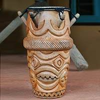 Wood kpanlogo drum, 'Asafo'