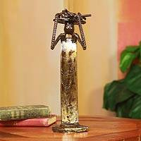 Recycled metal sculpture, 'Merchant Woman' - African Hand Crafted Recycled Scrap Metal Sculpture
