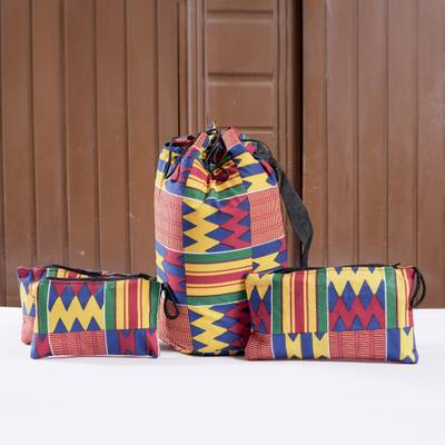 Kente tote bag and accessory cases, Fatia