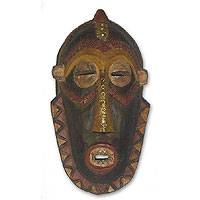 Akan wood mask, 'Next in Command' - Akan Wood Mask