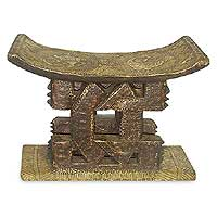 Ashanti throne stool, 'Mmaa Gwa' - Ashanti throne stool