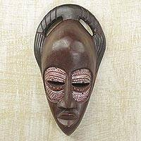 Ewe wood mask, 'Iron Eyes' - Ewe Wood Mask