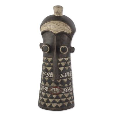 Ghanaian wood mask, 'Tigari Psychic' - Ghanaian Wood Mask from Africa