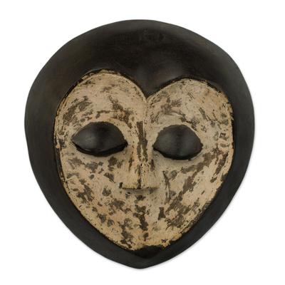 Congolese wood mask, 'Lega Sorcerer' - Congolese wood mask