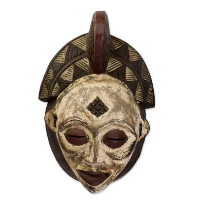 Gabonese Africa wood mask, 'Spirit Guide' - Gabonese Africa wood mask