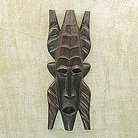 Dan wood mask,  'Bold Steps' - Dan wood mask