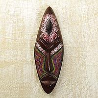 Ghanaian wood mask,