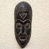Malian wood mask, 'Harvest Wisdom' - Malian wood mask