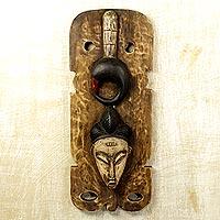 Ivoirian wood mask,