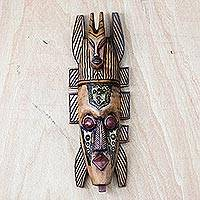 Akan wood mask, 'Friendship' - Akan wood mask