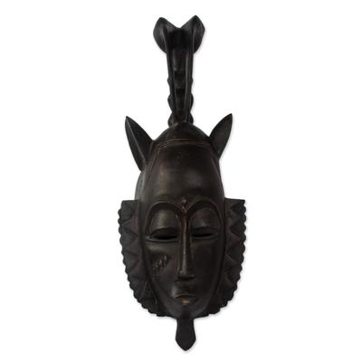 Ivoirian wood mask, 'Bird Protector' - Ivoirian wood mask