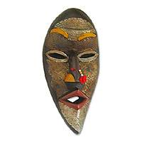 Ghanaian wood mask, 'Evil Spirits' - African wood mask