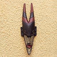Ghanaian wood mask, 'Antelope Totem'