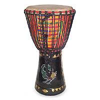 Featured review for Wood djembe drum, Colors of Africa