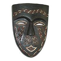Congolese wood African mask, 'Bateke Beauty' - Congolese wood African mask