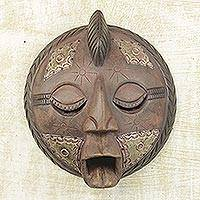 Akan wood mask, 'Mystic' - Akan wood mask