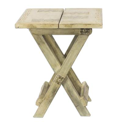 wood folding table picnic time handcrafted rustic cosco and chairs outdoor patio with chair storage