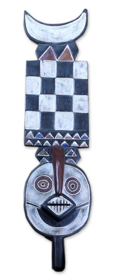 African Burkina Faso wood mask, 'Bwa Bush Spirits' - Unique Burkina Faso Wood Mask