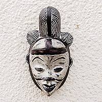 Gabonese wood mask, 'Punu Spirit' - Gabonese Wood Mask