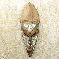 Akan wood mask, 'Always Lead a Good Life' - Akan wood mask
