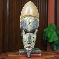 African mask, 'Have a Good Life' - Hand Carved African Wood Mask