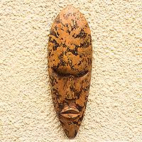Akan wood mask, 'Sprinkle'