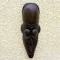 Angolan wood mask, 'Spirit of Wealth' - Angolan wood mask