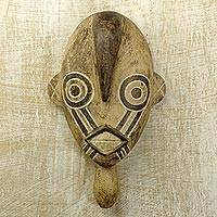 Africa Burkina Faso wood mask, 'Bobo Boar' - Fair Trade Burkina Faso Wood Mask