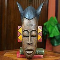 Ashanti wood mask, 'Chief's Sword Bearer' - Ashanti wood mask