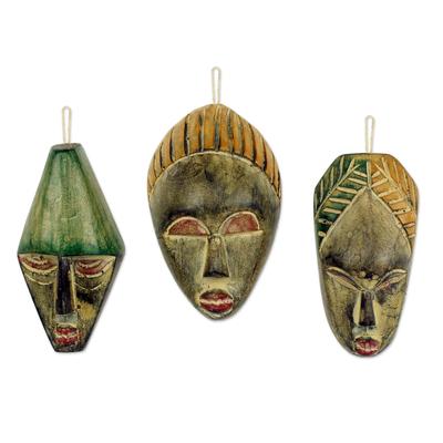 Unicef Market Handmade Wood Christmas Ornaments Set Of