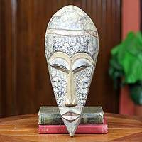 Akan wood mask, 'Solemn Rite' - Akan wood mask