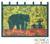 Batik wall hanging, 'Proud African Elephant' - Handcrafted Batik Cotton Wall Hanging (image 2) thumbail