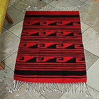 Zapotec wool rug, 'Dusk' (2x3.5) - Zapotec Wool Area Rug from Mexico (2x3.5)