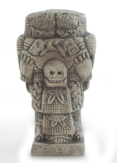 Unique Aztec Archaeology Ceramic Replica Sculpture (Small)
